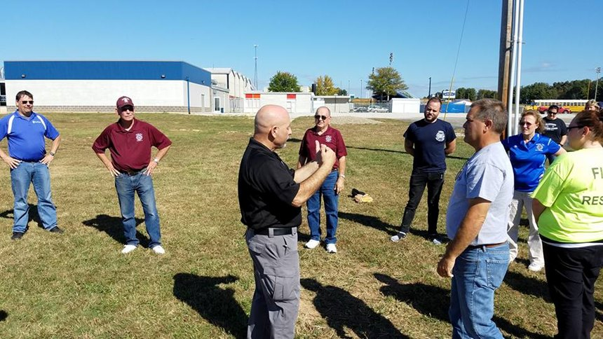 First responders going through Munding's course learn how to assist a patient carefully, and how to defend themselves in case the patient turns violent. (Photo/Street Smart EMS)