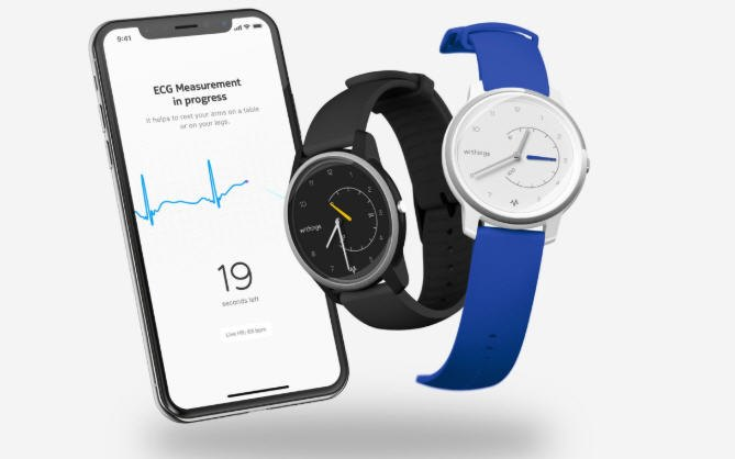 Withings Move ECG can measure electrocardiograms. (Photo/Withings)