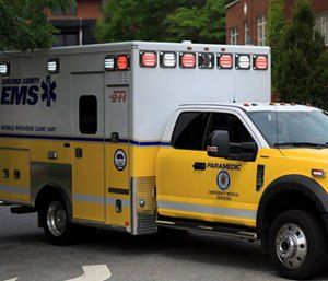NC ambulance overturns while responding to call
