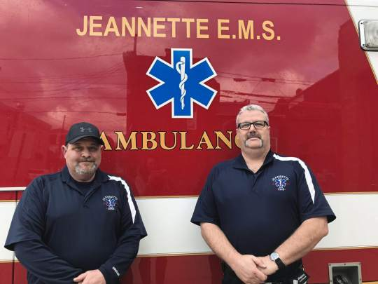 Right place, right time: Jeannette first responders save man's life during training exercise